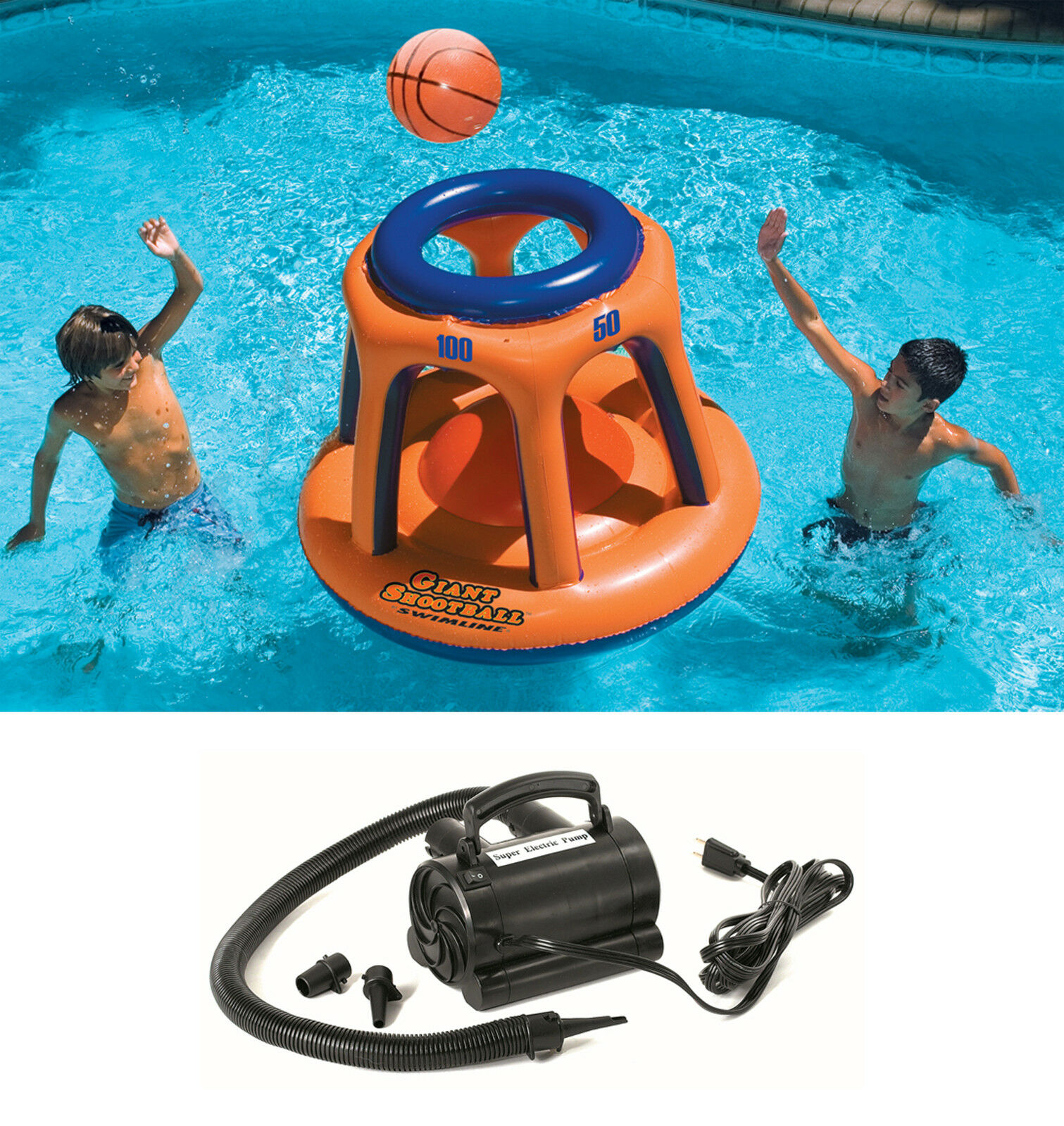 Swimline Basketball Hoop Shootball Inflatable Pool Toy