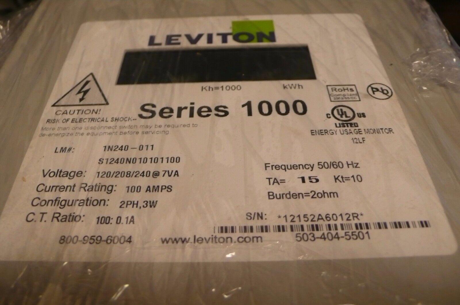 Leviton 1n240-011 Meter Series 1000 100 Amps | eBay