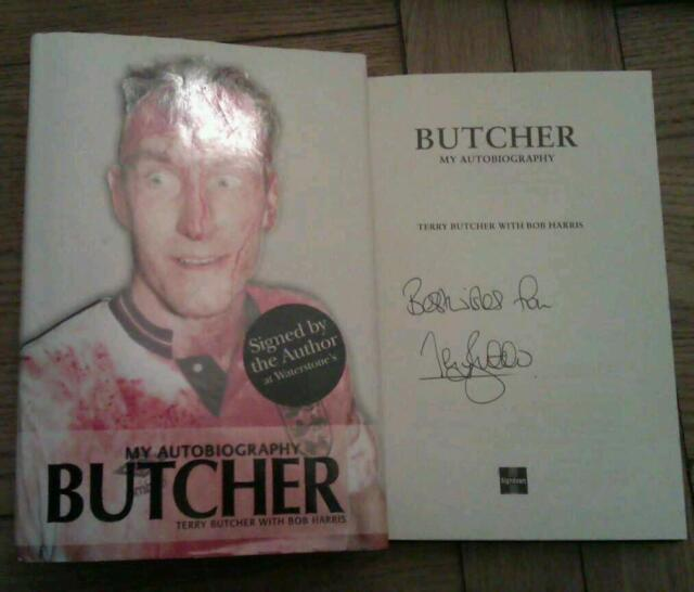 Terry Butcher SIGNED Rangers Ipswich England My Autobiography Book Autograph HB