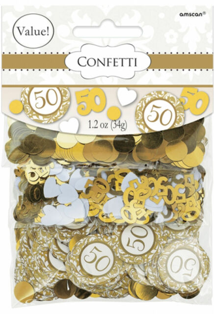 Golden Wedding Table Confetti 50th Anniversary Table Decorations FREE Pu0026P