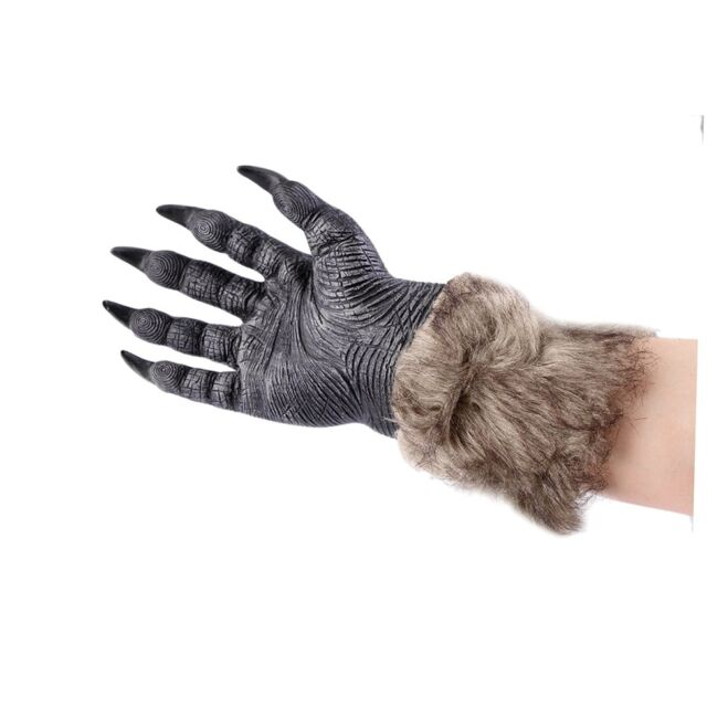 1 Pair Halloween Werewolf Wolf Paws Claws Cosplay Gloves Creepy Costume Party CP