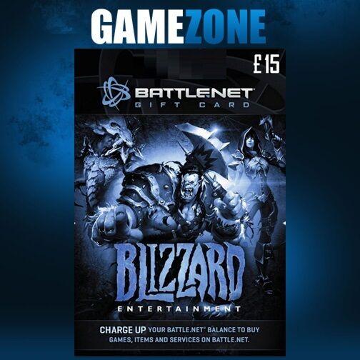 Battle.net Gift Card Key - 15 GBP Pounds UK Battle Net Blizzard ...
