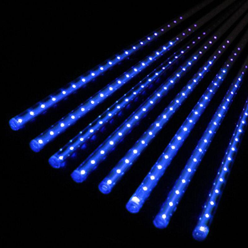30cm50cm led lights meteor shower rain 8tube xmas tree outdoor 30cm50cm led lights meteor shower rain 8tube xmas tree outdoor light us plug blue 50cm ebay workwithnaturefo