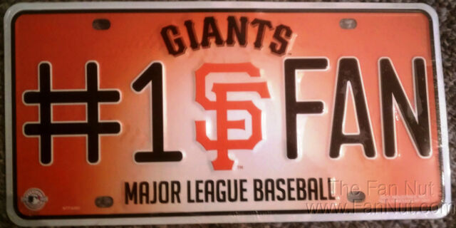 San Francisco Giants SF 1 Fan Metal Tag License Plate Baseball 6301 ...