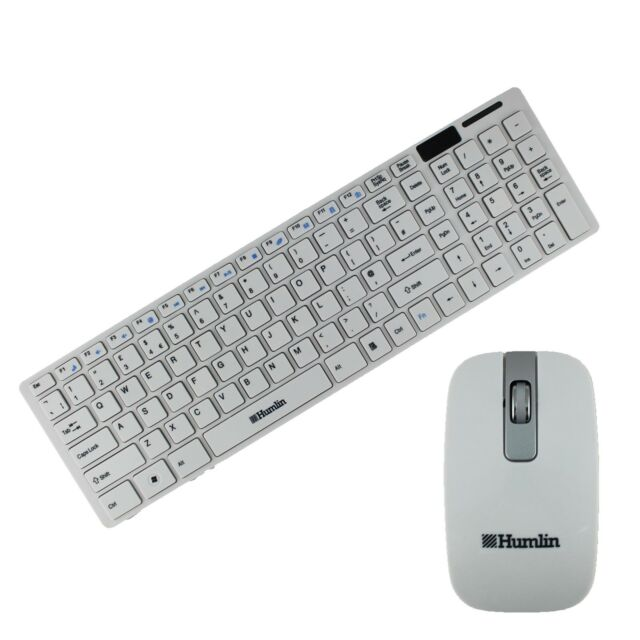 WIRELESS KEYBOARD AND MOUSE COMBO DESKTOP PC MAC TV HUMLIN BRAND MODEL MKB370