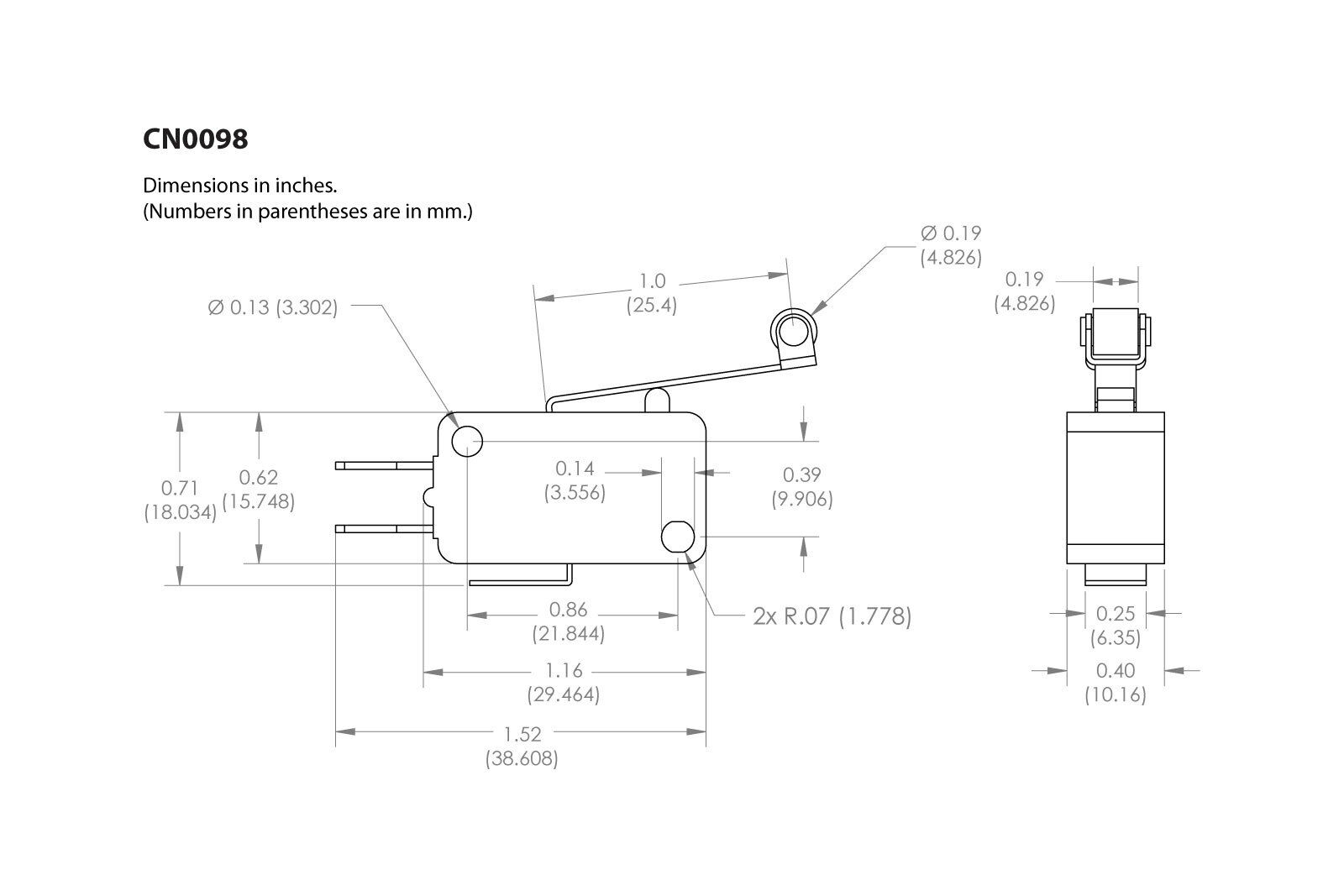 Roller Micro Switch Spdt Wiring Diagram Smart Diagrams 3 Pc Temco Limit Long Lever Arm Snap Action Rh Ebay Com Dpdt