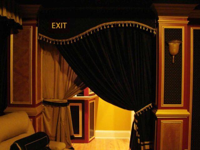 VELVET HOME THEATER EXIT CURTAIN VALANCE HAND CRAFTED DOOR CORNICE YOUR OWN LOGO & Saaria Velvet Home Theater Exit Valance Hand Crafted Door Curtain ...