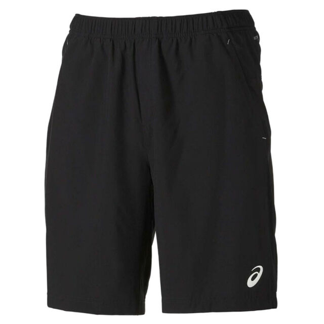 Asics Club Woven Shorts 9-Inch Men's Sports Training Black Wicking Football  Gym