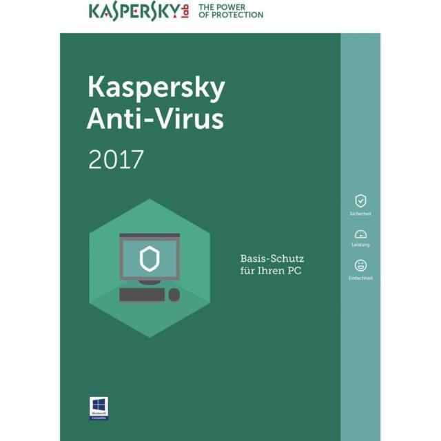 KAV3 Kaspersky Antiivirus 2017 per 3 PC 1 Anno completa Licenza  ESD