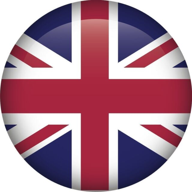 Union jack national flag uk gb round icon sticker decal graphic vinyl label