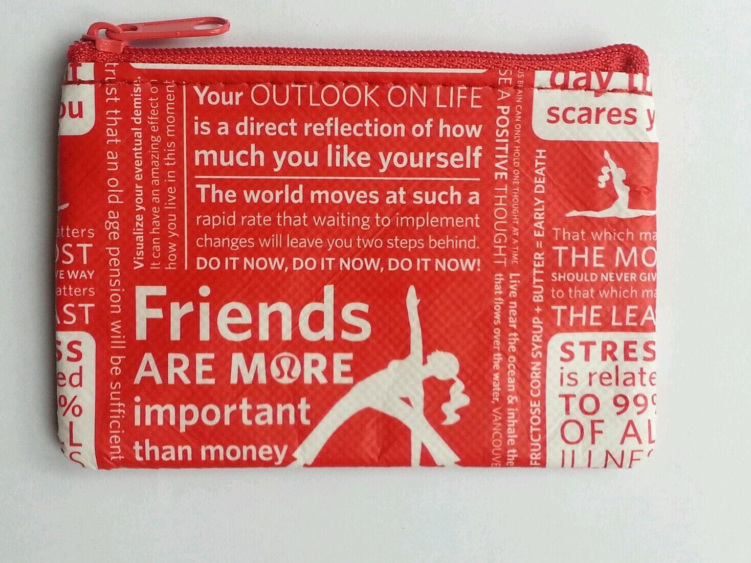 Lululemon Red White Manifesto Gift Card Holders Coin Purse | eBay