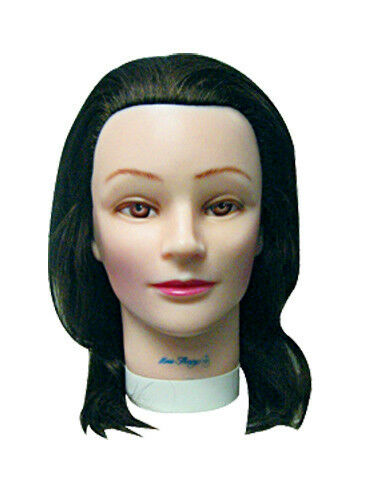 Rubber Mannequin Head Morris Flamingo N6523 100 Human Hair 17 19