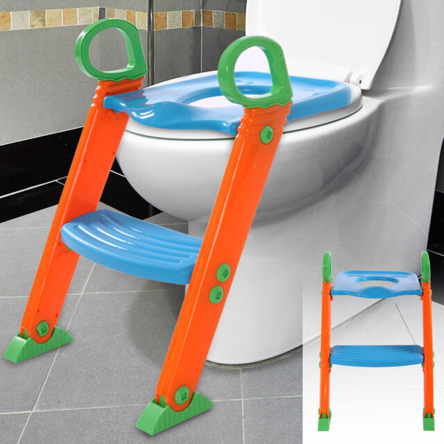 Kids Potty Training Seat Toilet Chair With Step Stool Ladder for ...
