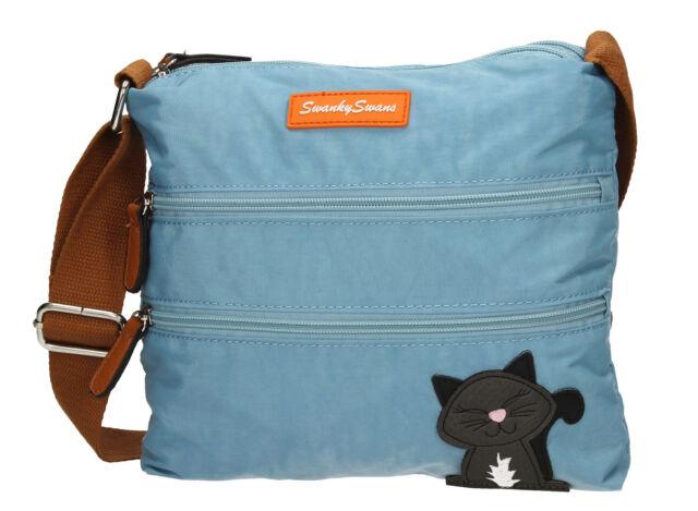 Womens Riley Cat Designer Cross-Body Bag Swankyswans NlCO1
