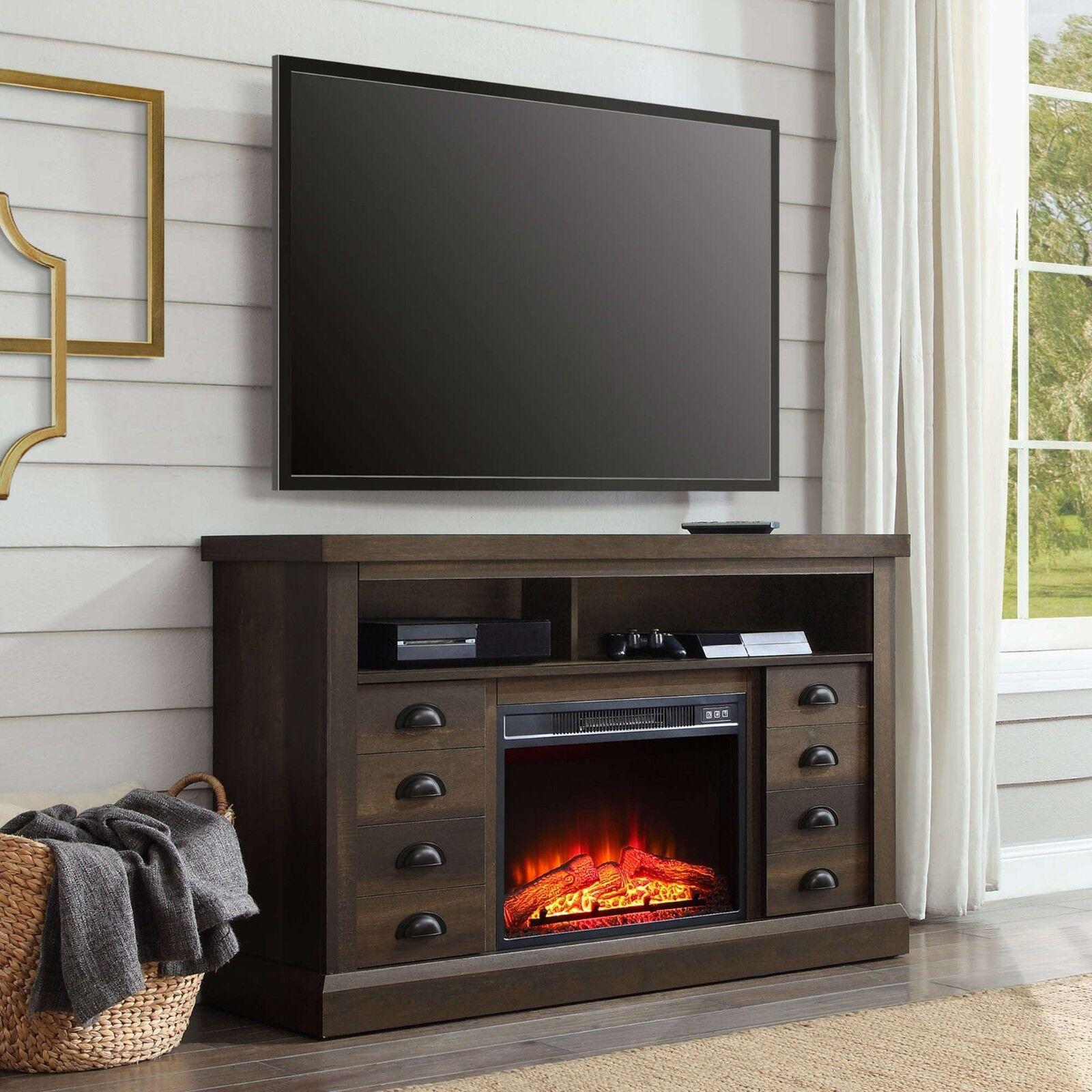 electric fireplace media console . modern electric fireplace  ebay