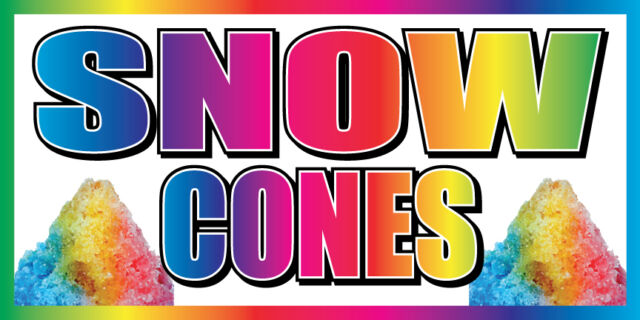 2 X4 Snow Cones Vinyl Banner Concession Stand Food Sign