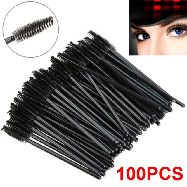 100PCS Disposable Eyelash Brush Mascara Wands Applicator Spoolers Makeup Mini BU