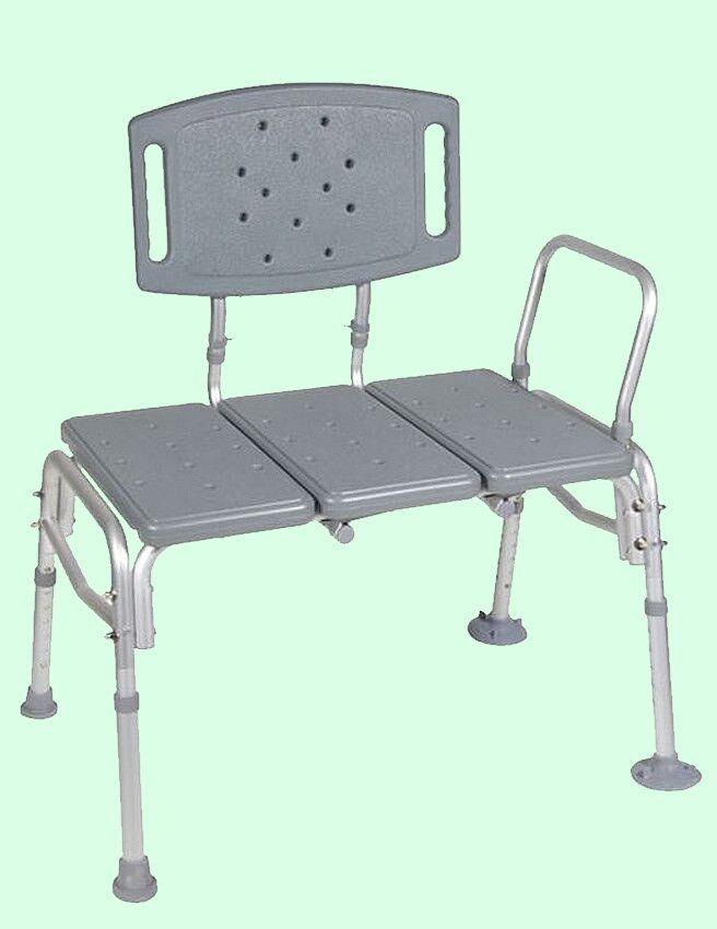 Heavy Duty Transfer Bath Chair 500 Lb. Capacity Bariatric Shower ...
