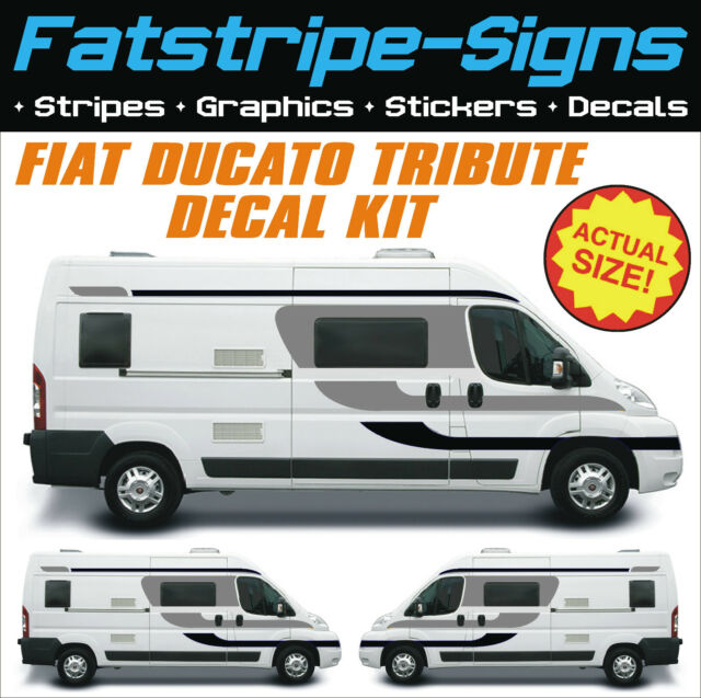 Fiat ducato tribute motorhome vinyl graphics stickers for Decals for rv mural