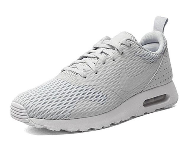 27b58c70a0 shopping nike air max tavas se mens adults running sports shoes trainers  pure platinum 16af7 6f442