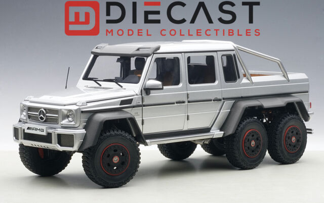 mercedes g63 amg 6x6 silver 1 18 by autoart 76301 ebay. Black Bedroom Furniture Sets. Home Design Ideas