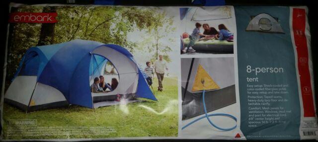 NEW Embark 8 PERSON Tent C&ing Tarp Floor Detachable Rainfly Easy Set-up 14x8 & Embark 8 Person Tent Camping Tarp Floor Detachable Rainfly Easy ...