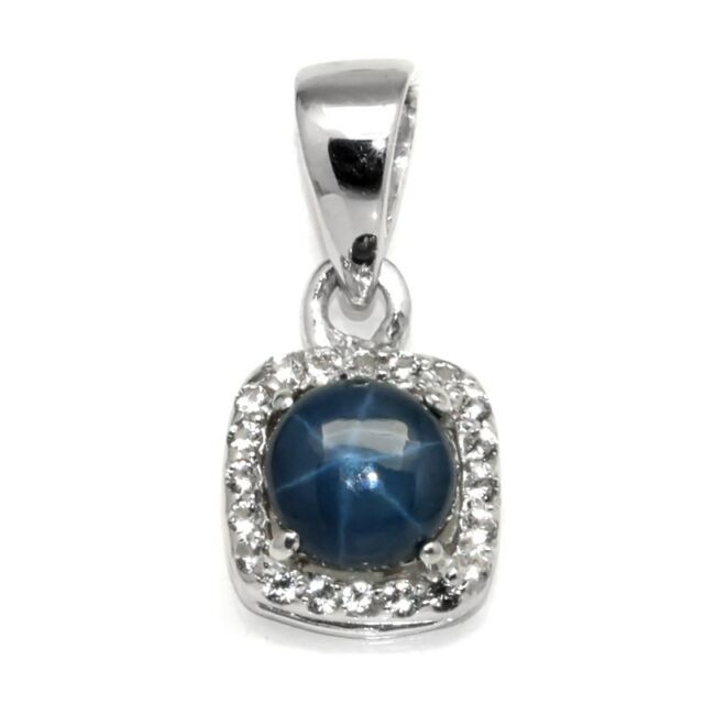 120ct natural 6 ray blue star sapphire pendant with topaz in 925 120ct natural 6 ray blue star sapphire pendant with topaz in 925 silver mozeypictures Choice Image