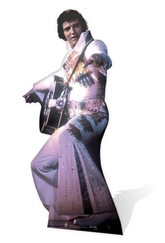 Elvis Presley The King White Jump Suit Cardboard Cutout-155cm Tall-At your party