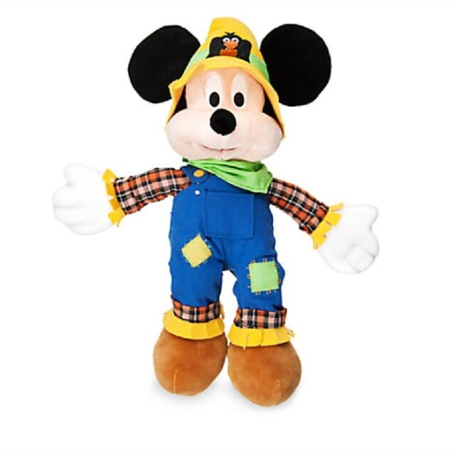 Disney Halloween 2016 Mickey Mouse Scarecrow Plush With Tags | eBay