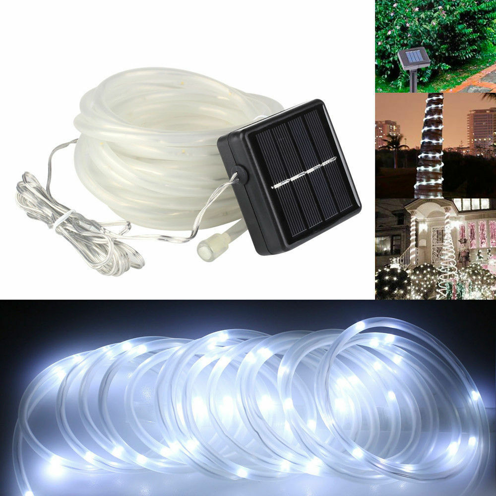 5m 50 led solar power rope tube lights strip light sensor outdoor picture 1 of 9 aloadofball Image collections
