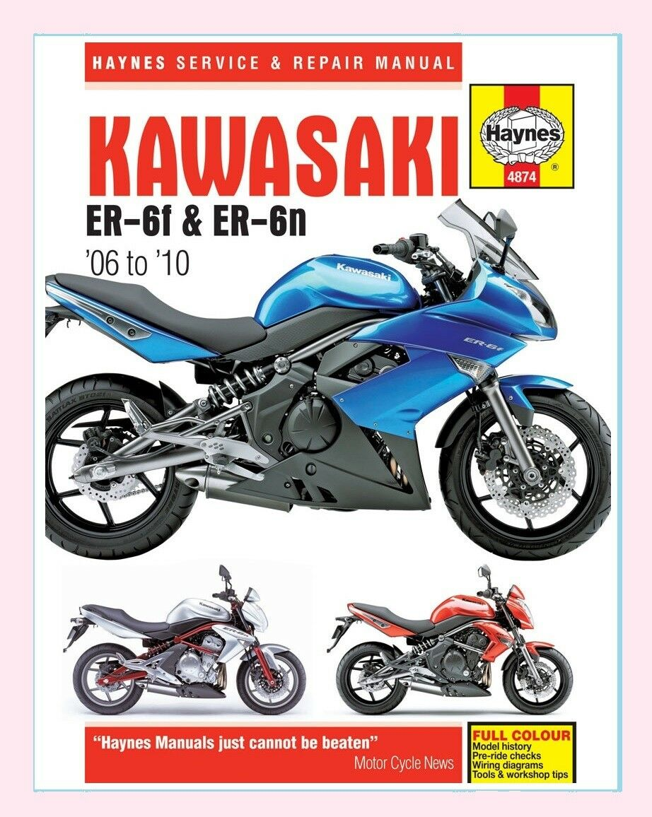 Haynes Manual for Kawasaki Er Er6 Er-6 Er-6f Er-6n 2006-09 | eBay