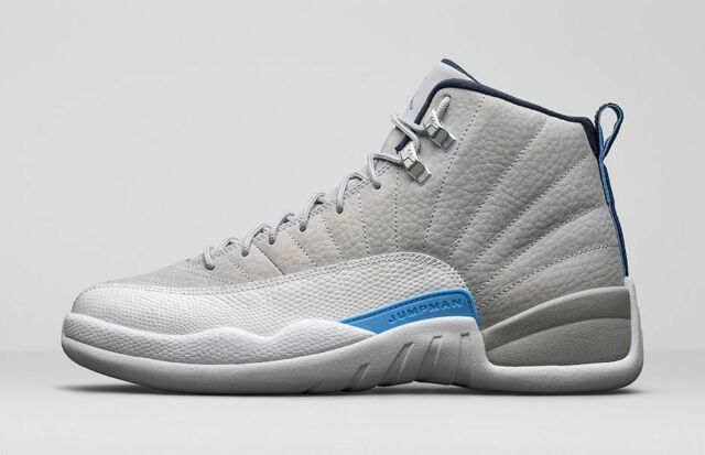 Kids Nike Free Shipping Air Jordan 12 XII Retro Grey On sale University Most Expensive Blue UNC 130690-007