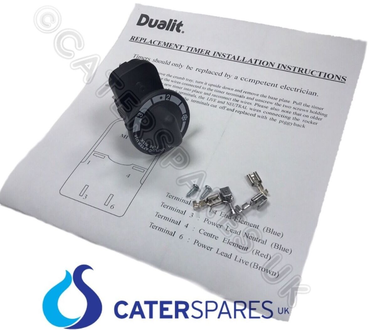 s l1600 01362 genuine dualit toaster timer includes knob screws & wiring dualit toaster timer wiring diagram at bayanpartner.co