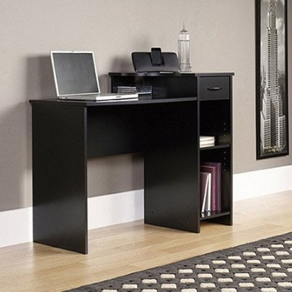 Mainstays Computer Workstation Home Office Study Desk Modern Student Table  Black