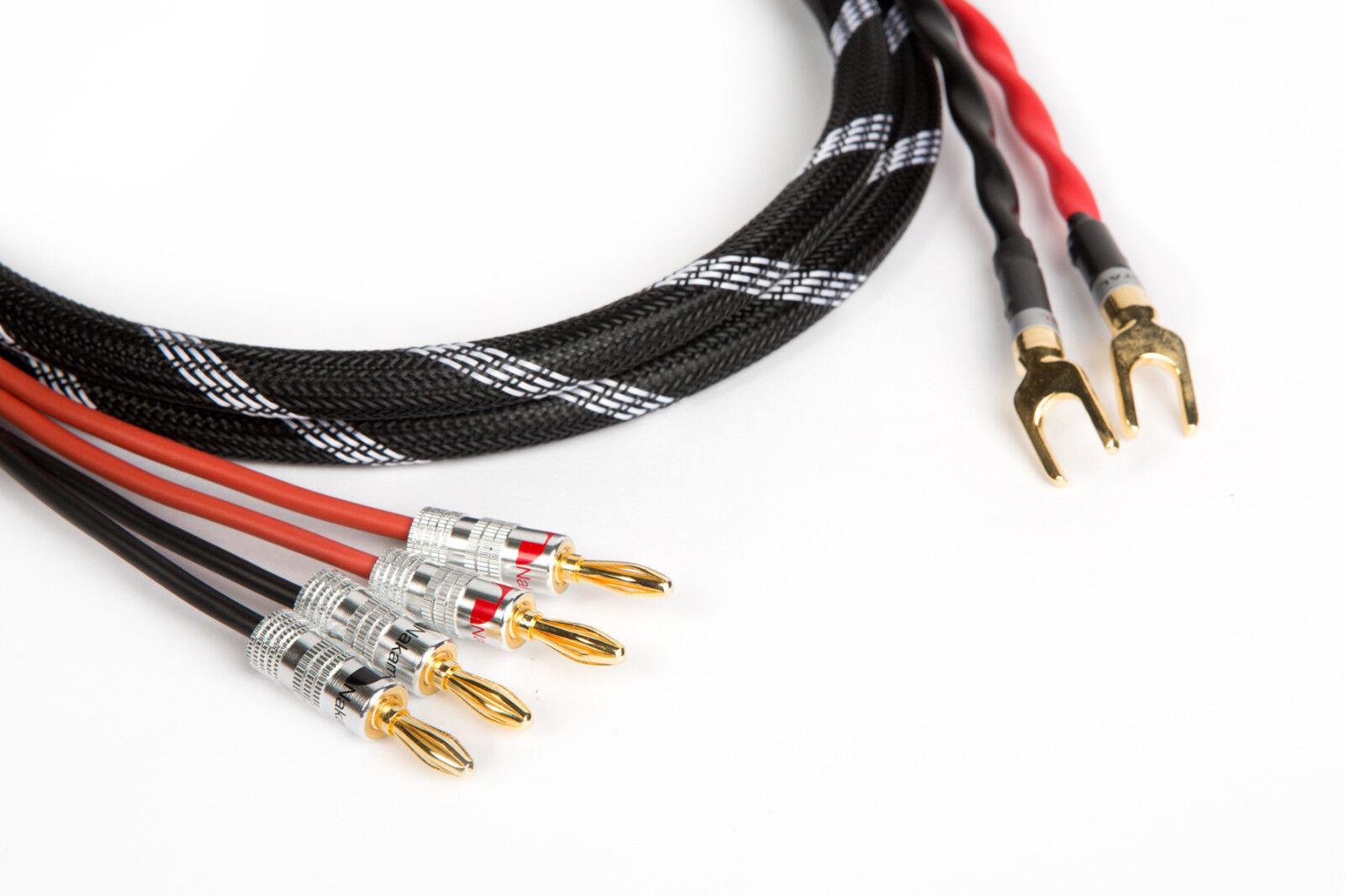 Canare 4s11 Hi-fi Bi-wire Speaker Cable Single Braided 2 Spade /4 ...