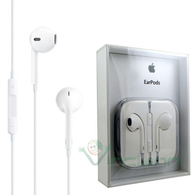 """Cuffie+microfono Earpods originali Apple auricolari per iPhone 6 4.7"""" 5 5s 4 4s"""