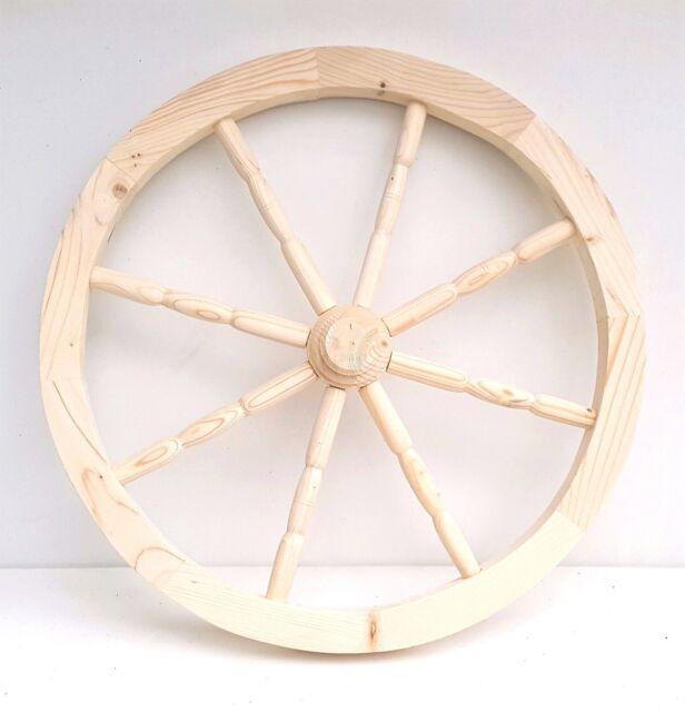Wooden Cart Wheel Ornamental Wood Cart Wagon Wheels 80cm Home Garden  Decoration