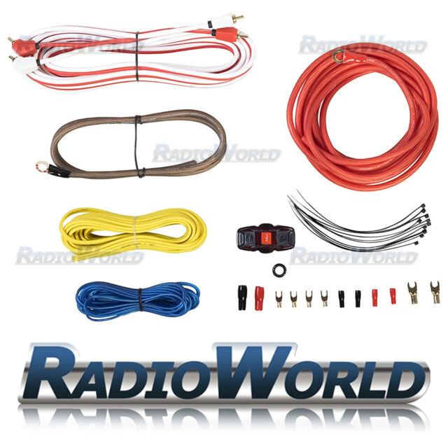 vibe cl8awkt 1500 watts 8 awg gauge car amplifier amp sub woofer rh ebay com vibe 2000w wiring kit vibe amplifier wiring kit