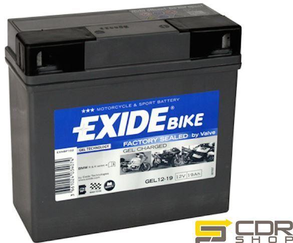 BATTERIA MOTO EXIDE GEL1219 19AH 12V (ORIGINALE BMW) BMW K 1200 1.2 K/R  DX
