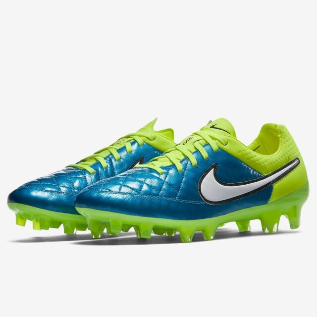 Nike Tiempo Legend V FG Mens Soccer Cleats White Lawn Green  3130474