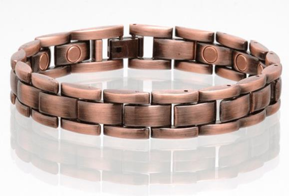 Copper Magnetic Link Bracelet Mens Womens Style Lh Jewelry Health Energy Ebay