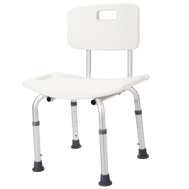 Adjustable Detachable Backrest Bench Stool Seat Medical Shower ...