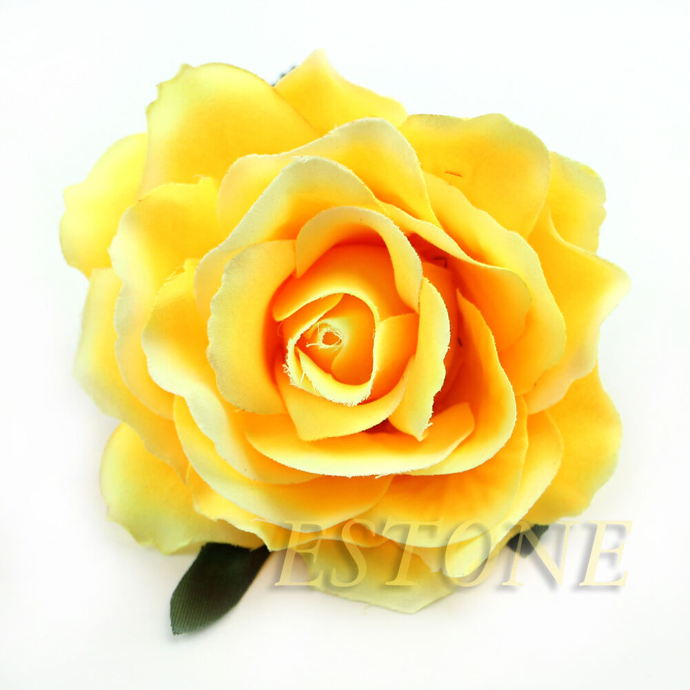 Rose Flower Corsage Hair Clips Wedding Bridesmaid Prom Festival
