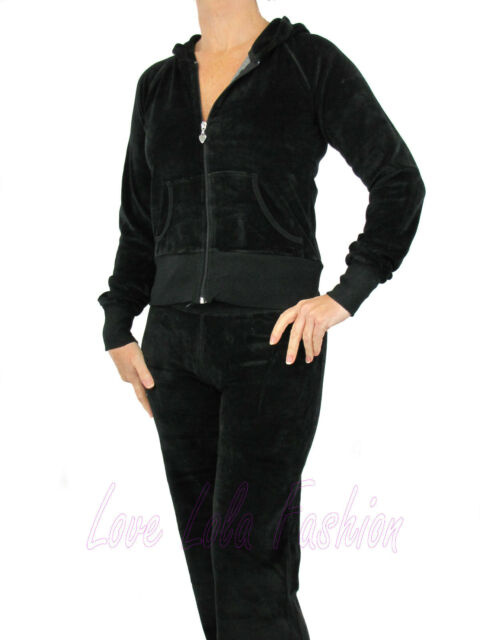 Womens Velour Tracksuits Joggers Hoodys Lounge Wear Ladies Quality ... ca736183577d