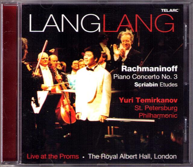 LANG LANG & TEMIRKANOV RACHMANINOV Piano Concerto No.3 SCRIABIN CD BBC Proms 郎朗