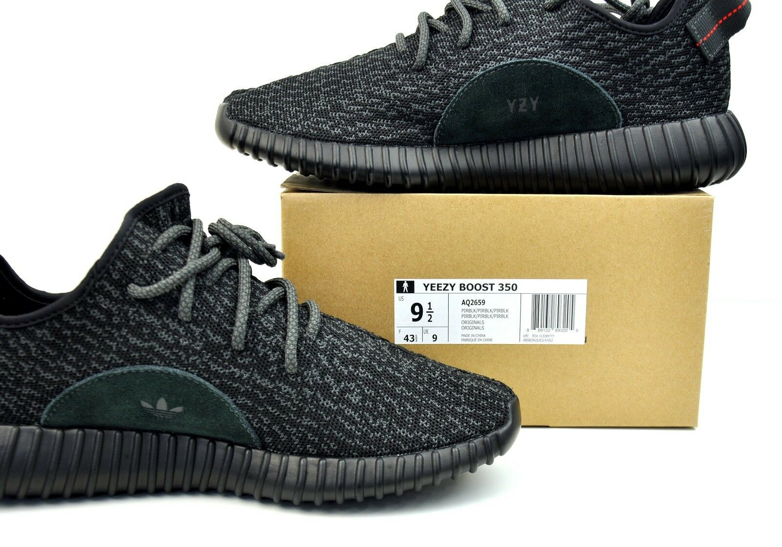49d4e2074b9c ... Adidas Yeezy Boost 350 V1 Pirate Black 2015 AQ2659 Used