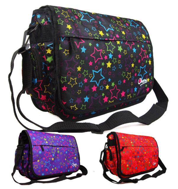 f61862d3d350 New Girls Womens Pretty Love Stars School College Messenger Satchel Shoulder  Bag