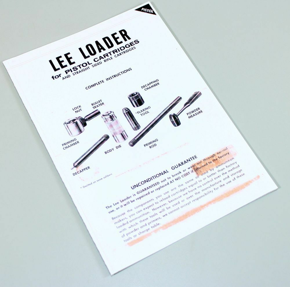 Lee manual m1895 lee cutaway array lee loader straight sided pistol rifle cartridges instruction owners rh ebay com fandeluxe Image collections
