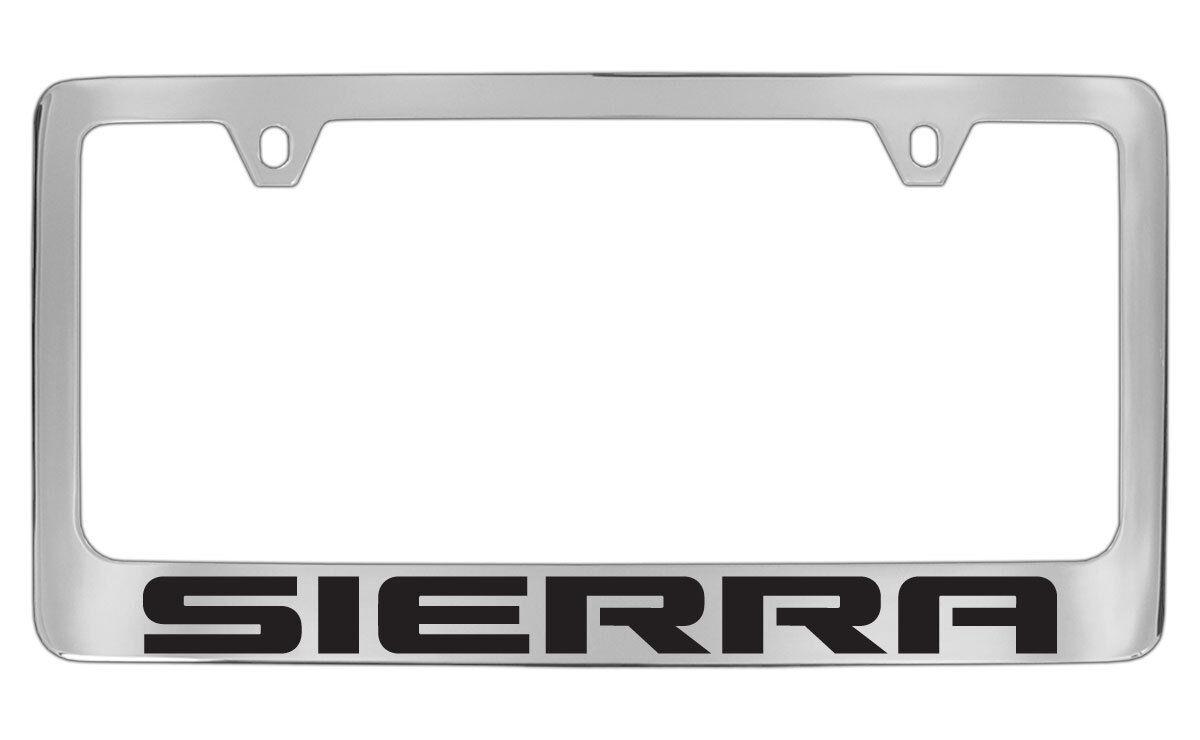 GMC Sierra Chrome Plated Metal License Plate Frame Holder | eBay