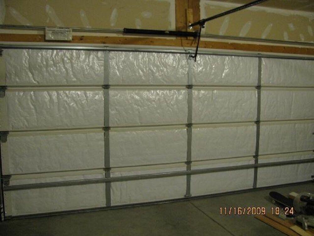 Picture 1 of 11 ... & NASA Tech Reflective White Foam Core Garage Door Insulation Kit ... pezcame.com